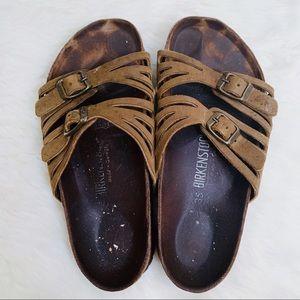 Birkenstock Granada Olive 2 Strap Sandal EU 35 5